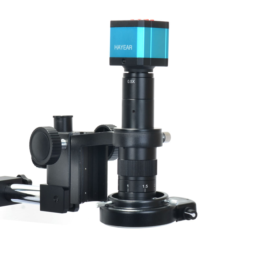 Heavy Duty Dual-Arm Metal Boom Stereo Microscope Table Stand for HAYEAR
