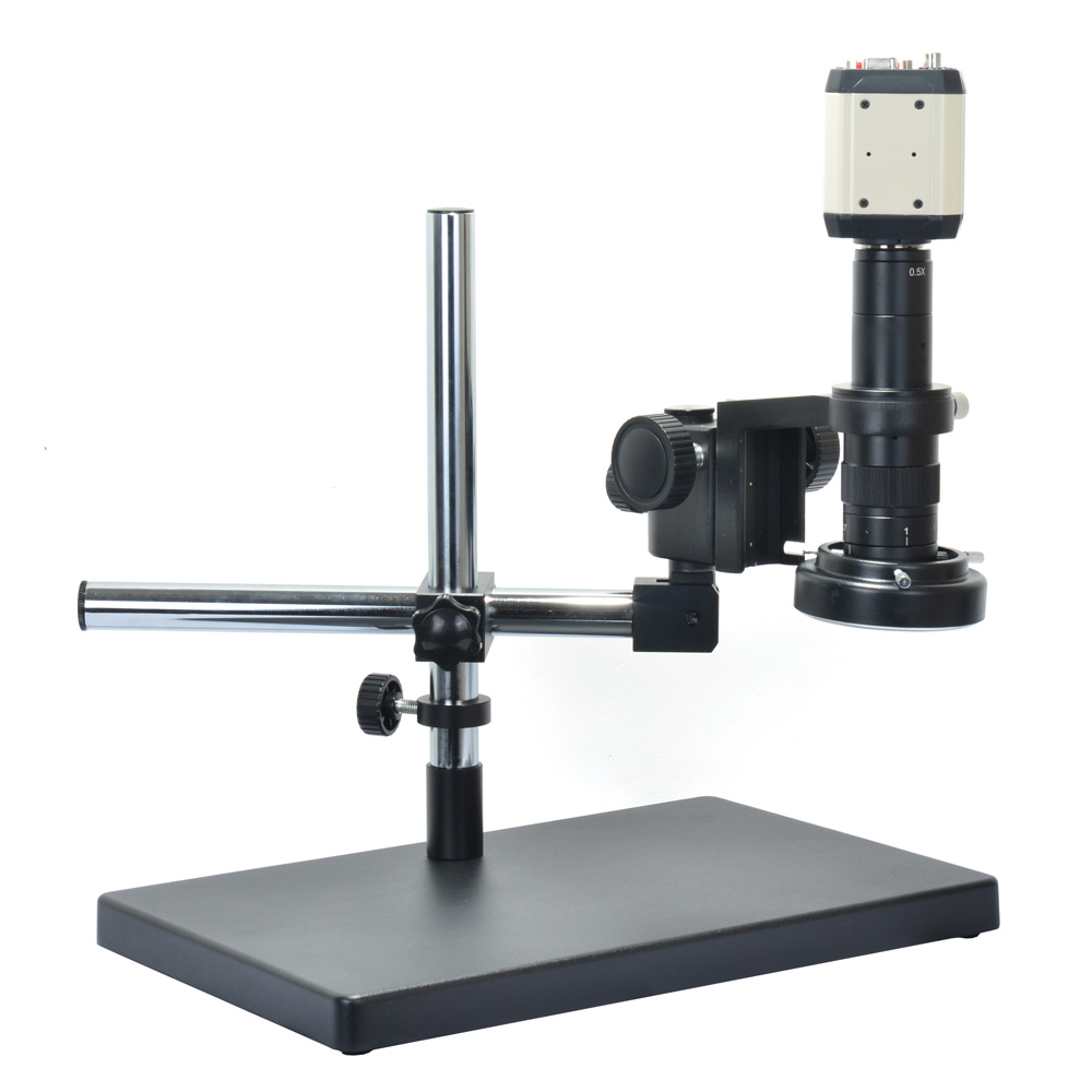 1080P VGA AV USB 3 in1 Digital Industry Microscope Camera Set+Big Stand Universal bracket +180X Zoon C-MOUNT Lens+144 LED Light
