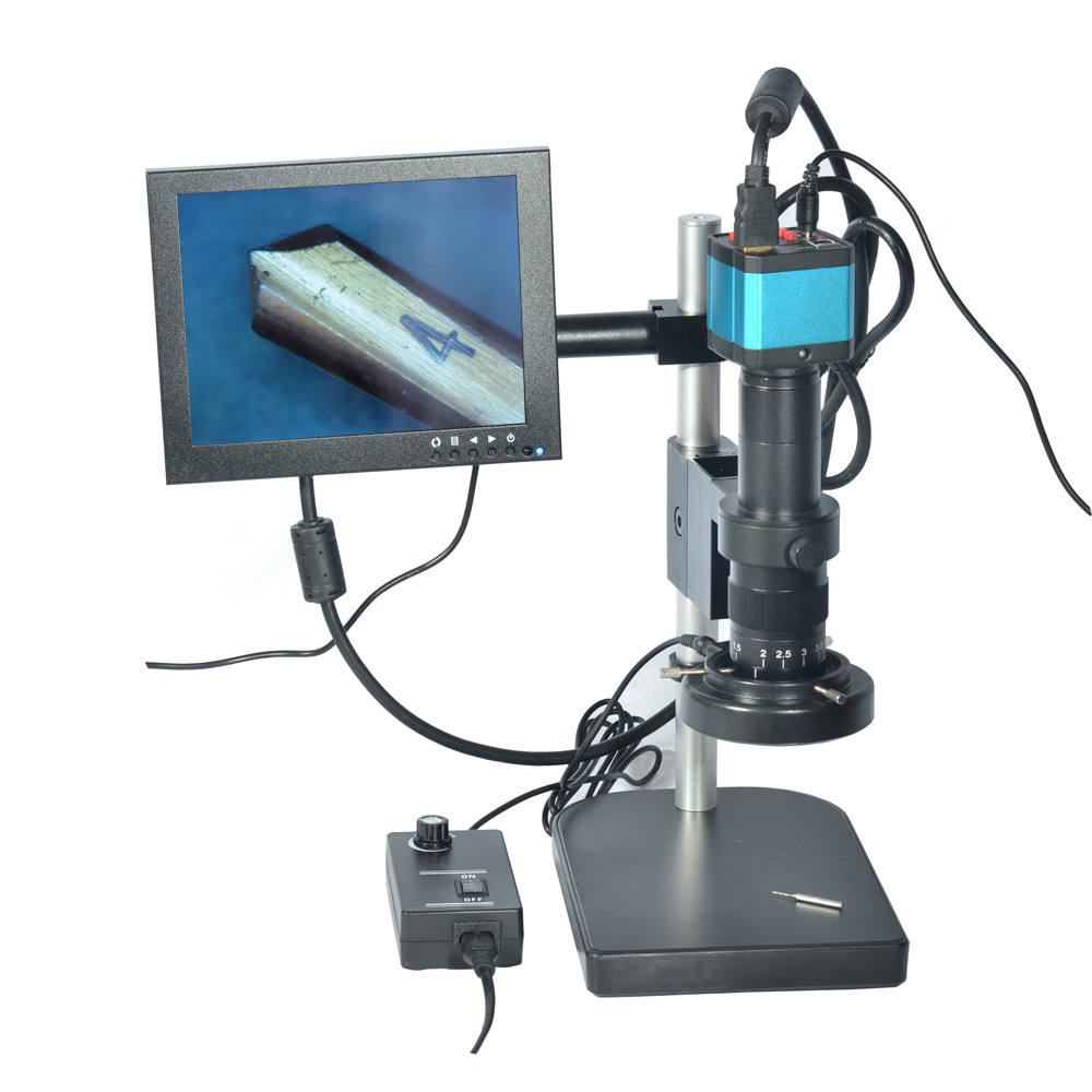 14MP HDMI HD USB Digital Industry Video Microscope Camera Set+Small Table Stand HY-2307S