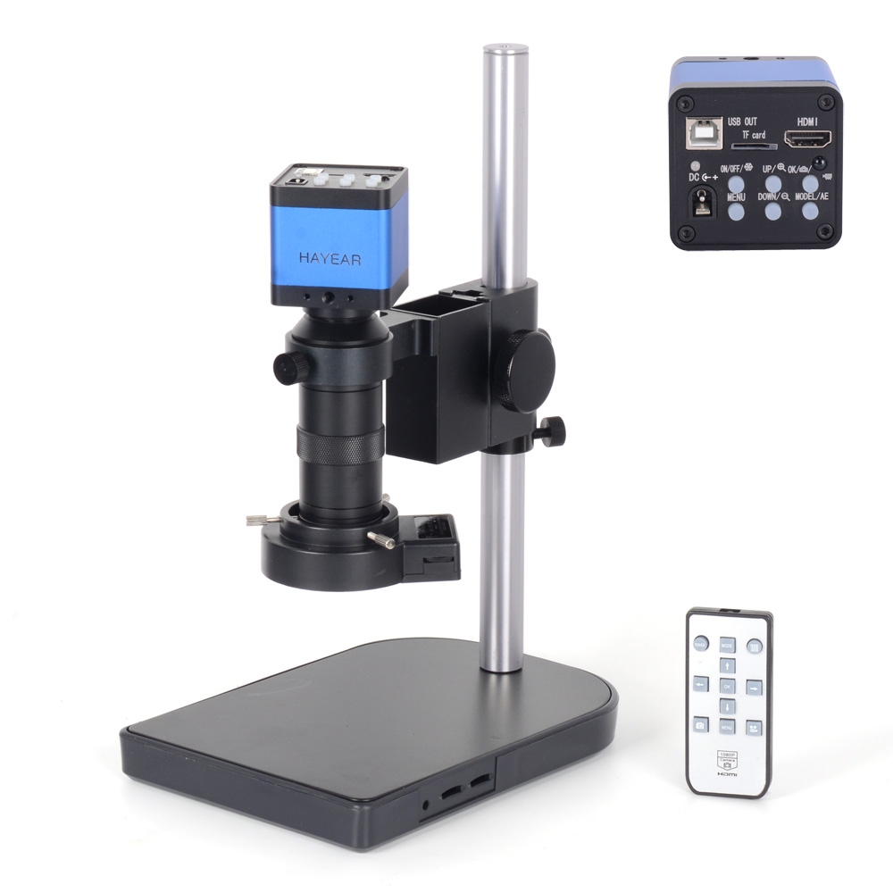 HAYEAR 16MP Full HD 1080P 60FPS HDMI USB Output Industry Microscope Video Camera with 100X C-Mount Lens HY-3307C